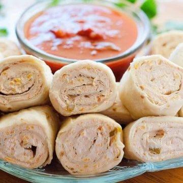Salsa Roll Ups recipe