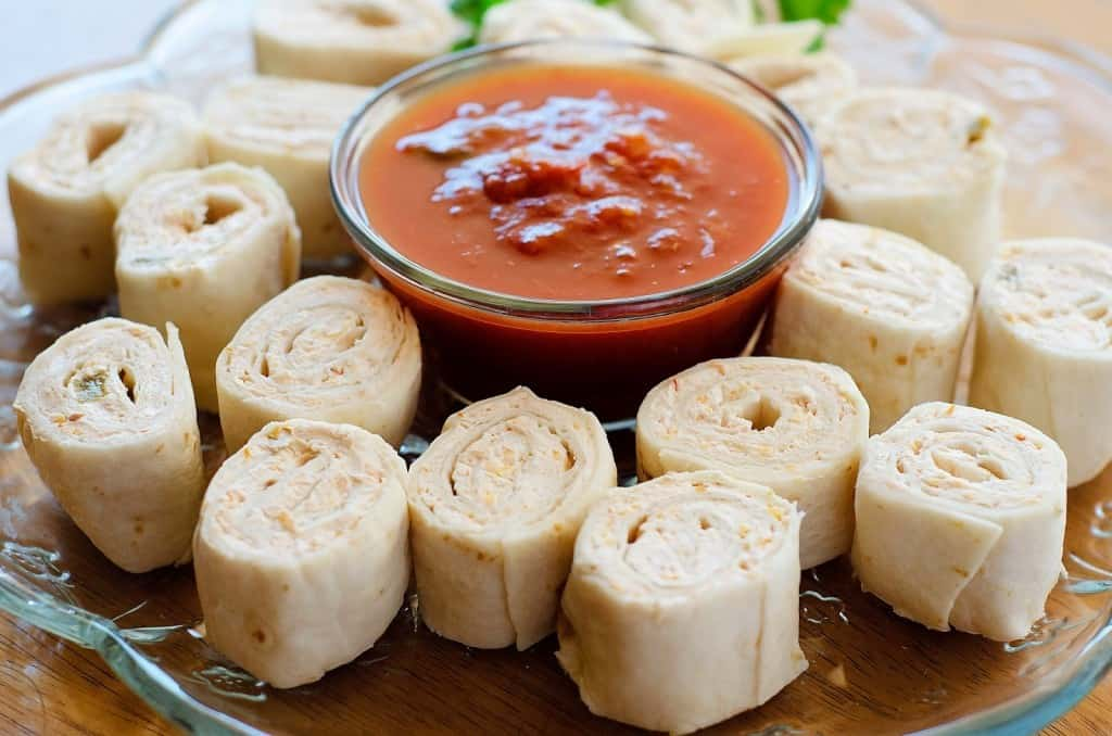 Tortilla Cream Cheese Salsa RollUps