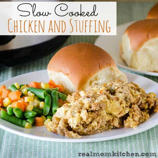 SLOW COOKER CHICKEN & STUFFING