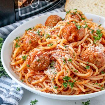 Crock Pot Spaghetti and Meatballs recipe