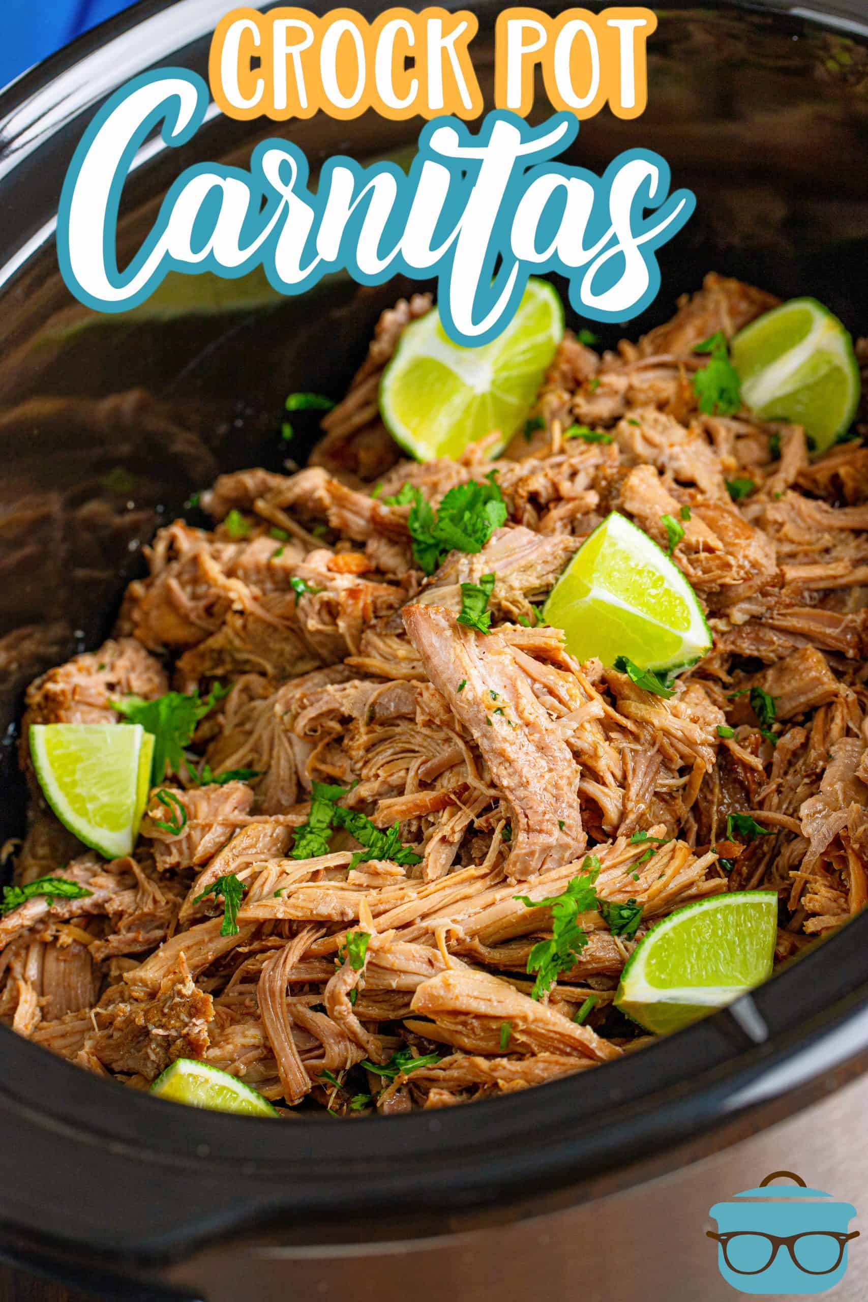 These Crock Pot Pork Carnitas only require a handful of ingredients and are full of flavor. Perfectly seasoned pork and a trick to help the meat stay tender with crispy edges!