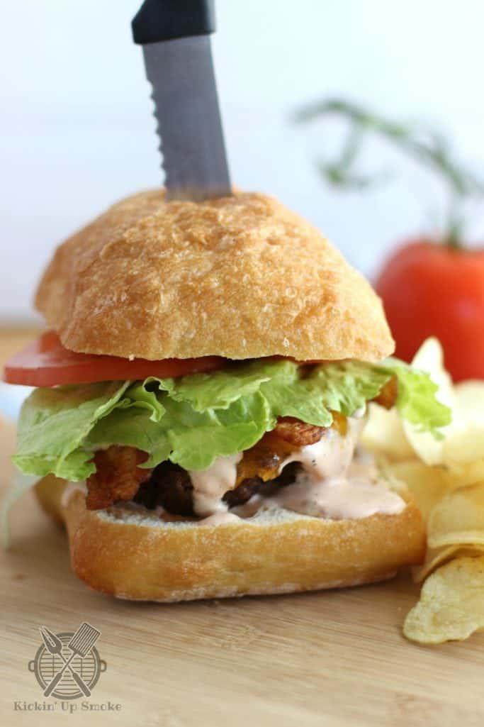 Chipotle Ranch Burgers recipe