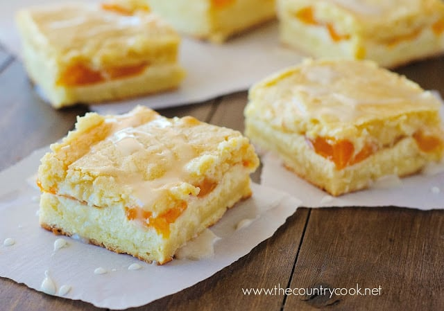 Easy Peaches and Cream Bars