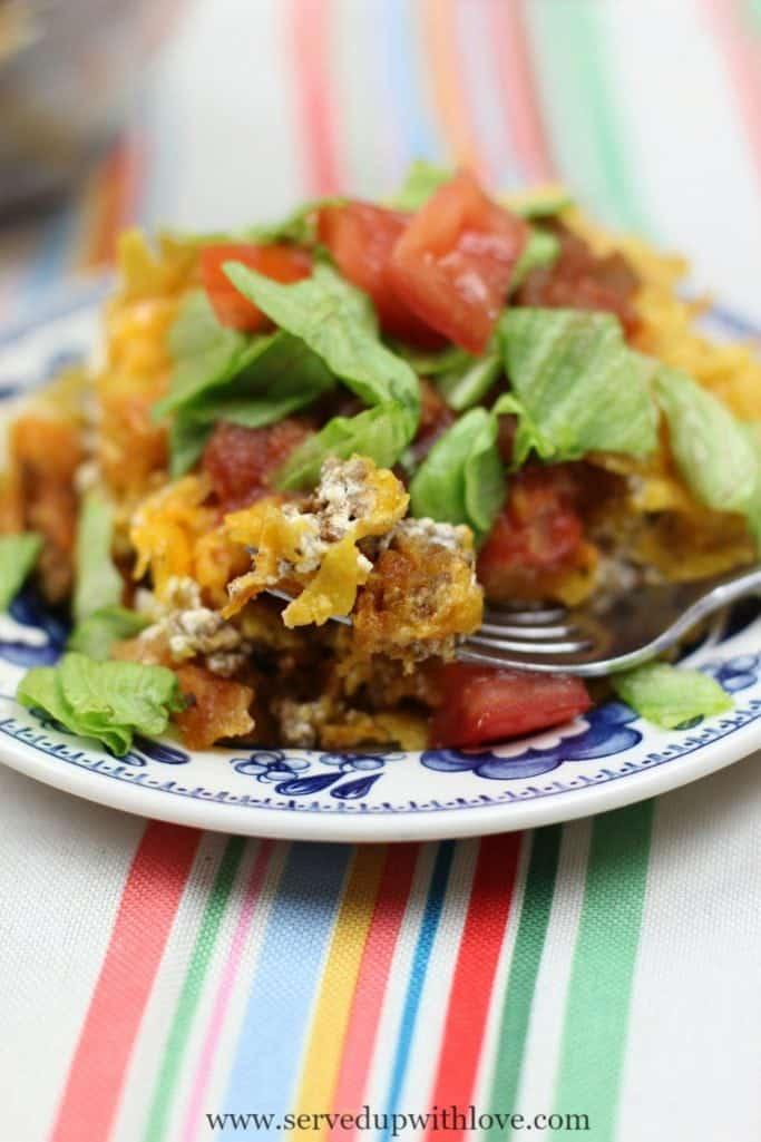 Taco Pie casserole recipe