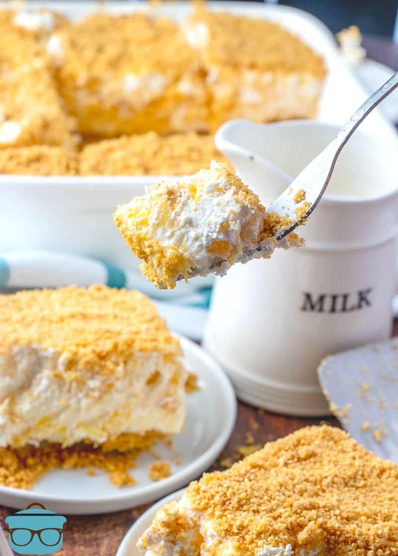 forkful, No Bake Pineapple Dream Dessert