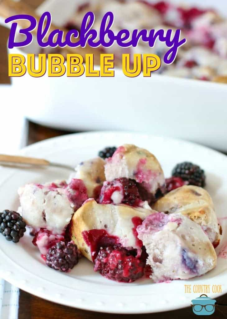 Blackberry Bubble Up recipe from The Country Cook