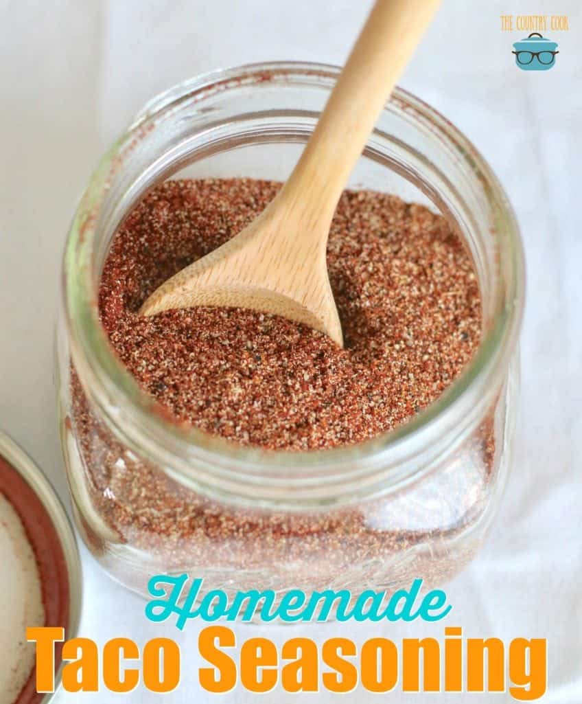 Homemade Taco Seasoning recipe from The Country Cook