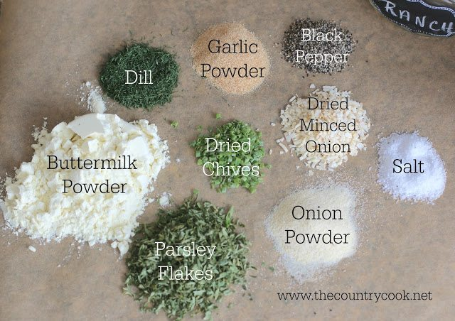 illustration of ranch seasoning ingredients