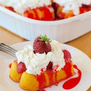 Strawberry Cloud Cakes