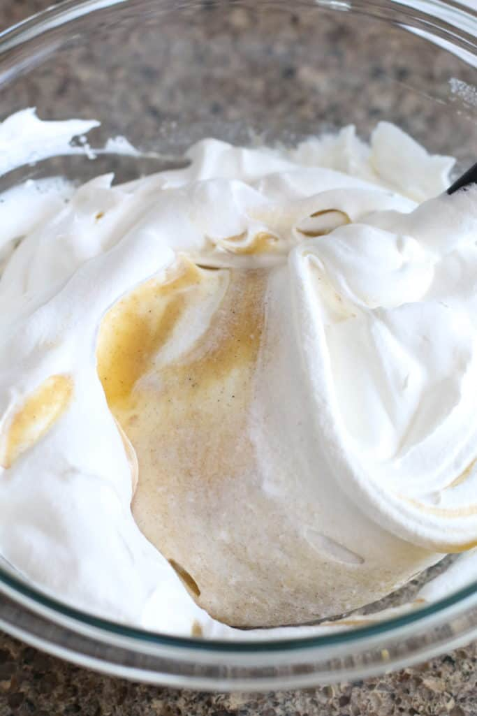whipped topping gently mixed with pumpkin spice pudding mixture