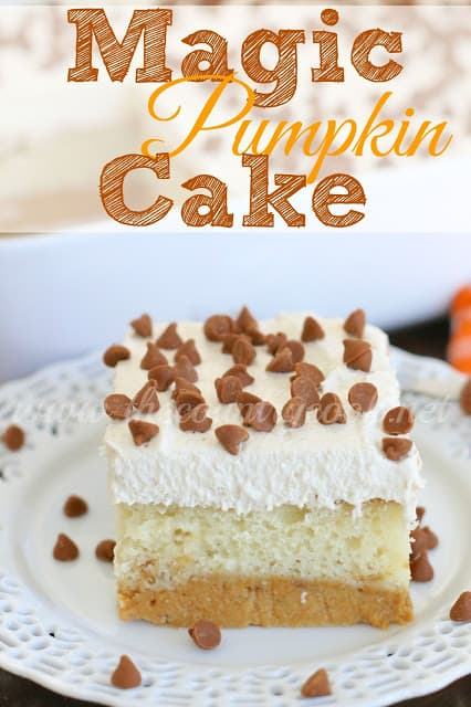 Magic Pumpkin Cake recipe from The Country Cook