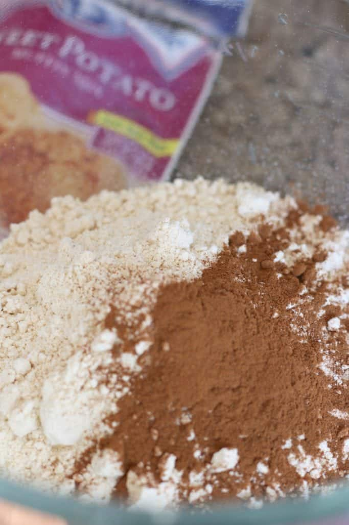 sweet potato muffin mix with ground cinnamon