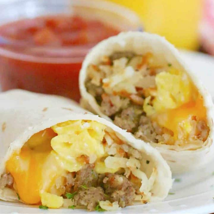 Freezer Friendly Breakfast Burritos recipe