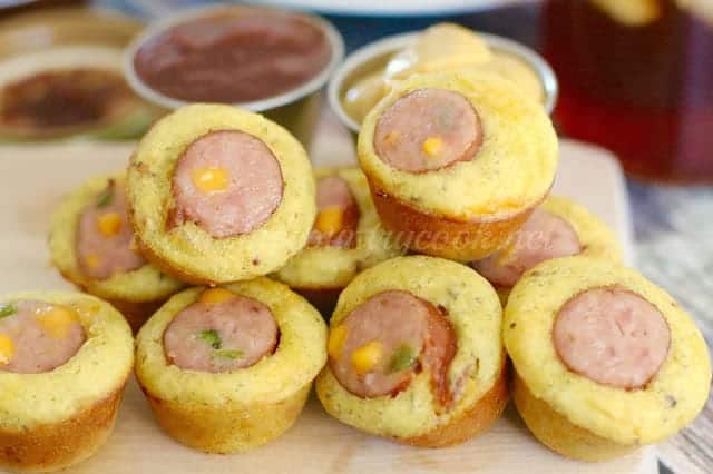 Cornbread Sausage Bites The Country Cook
