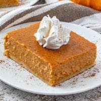 Easy Pumpkin Pie Bars recipe