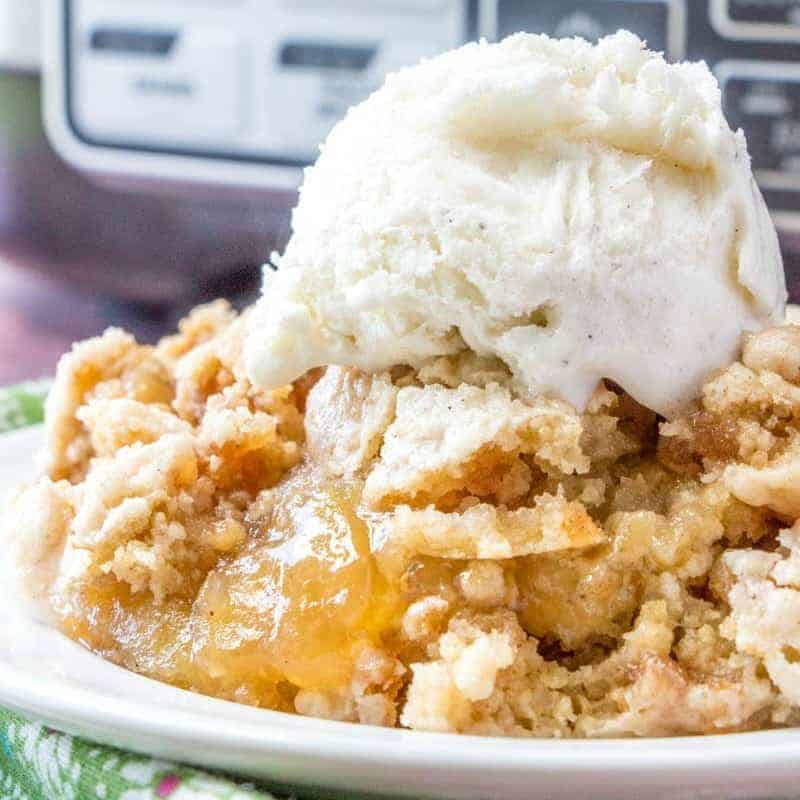 Crock Pot Apple Dump Cake with Apple Cinnamon Muffin Mix recipe