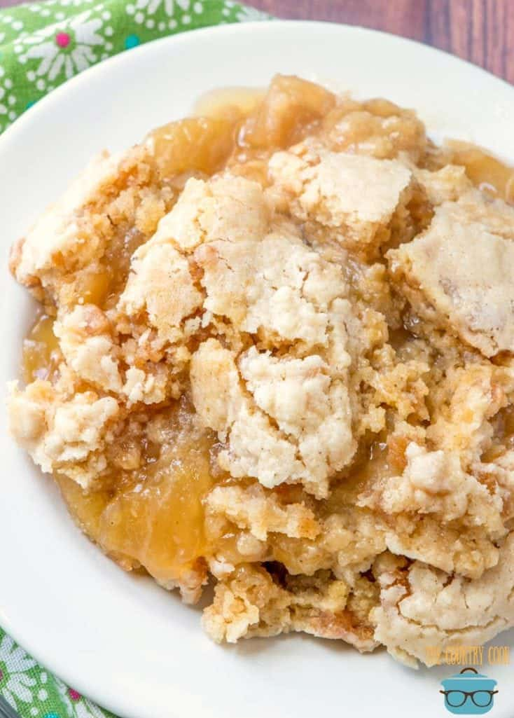 Crock Pot Apple Dump Cake recipe with muffin mix