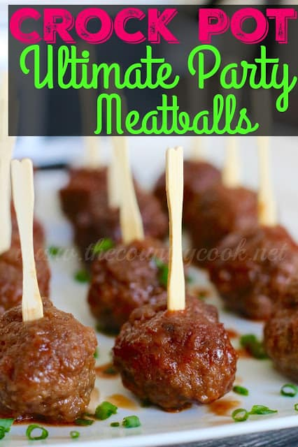 Crock Pot Ultimate Party Meatballs from The Country Cook