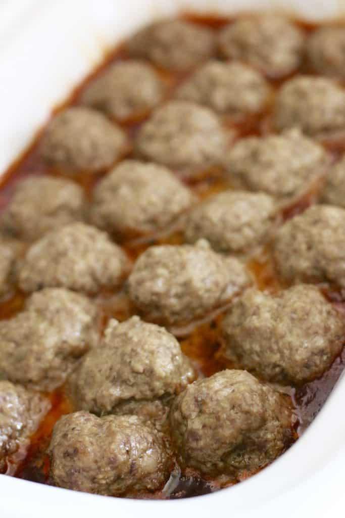 cooked meatballs in sauce