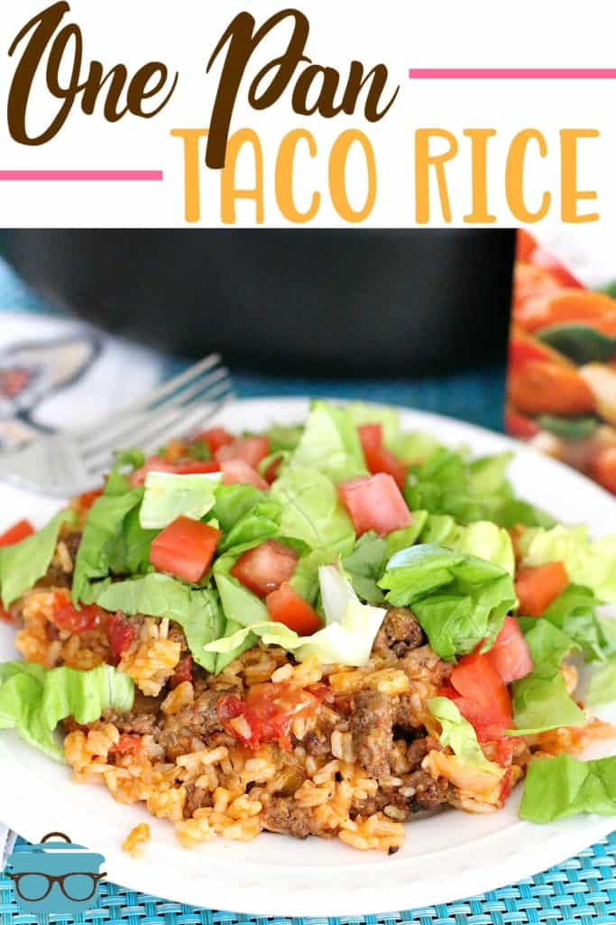 One Pan Taco Rice recipe from The Country Cook