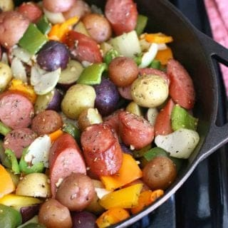 One Pan Skillet Sausage and Potatoes