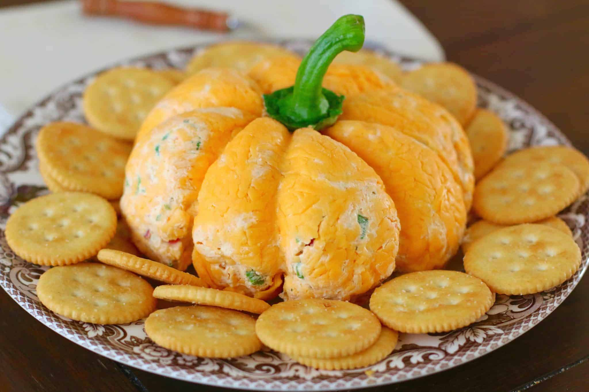 Pumpkin Shaped Cheeseball recipe