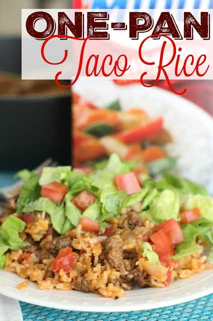 One Pan Taco Rice Dinner recipe from The Country Cook