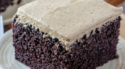 Homemade Dark Chocolate Cake with Gingerbread Frosting recipe