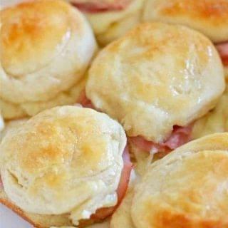 Warm Honey Ham Biscuits