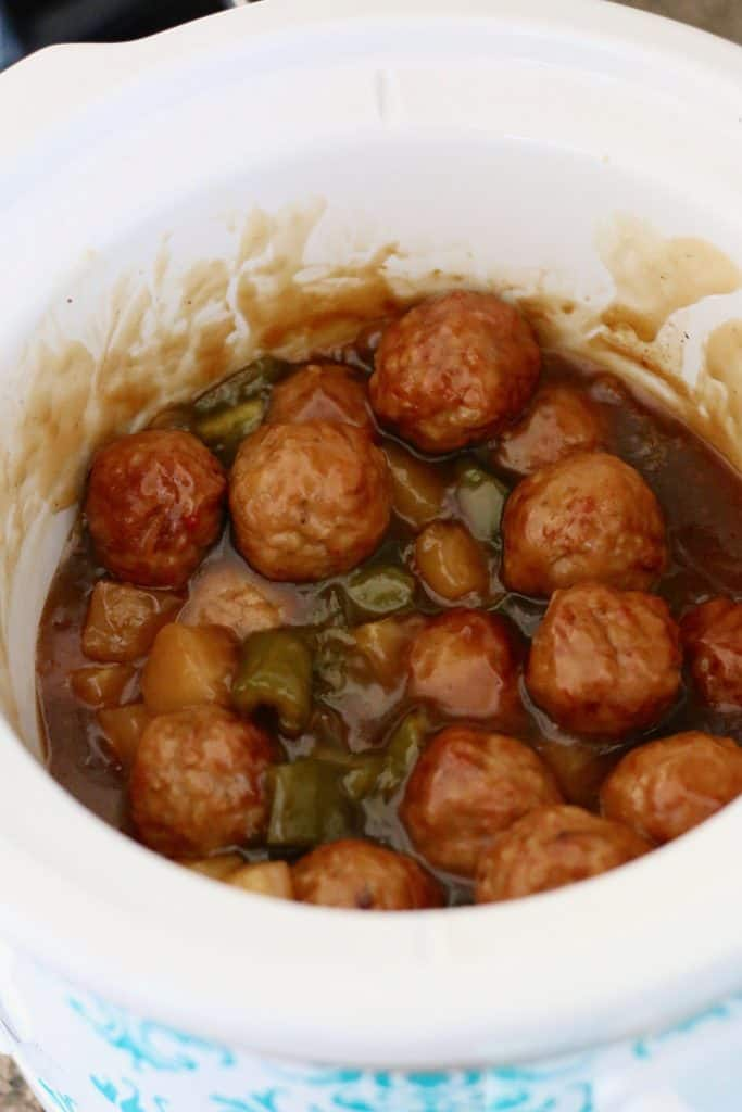Crock Pot Sweet and Sour Meatballs