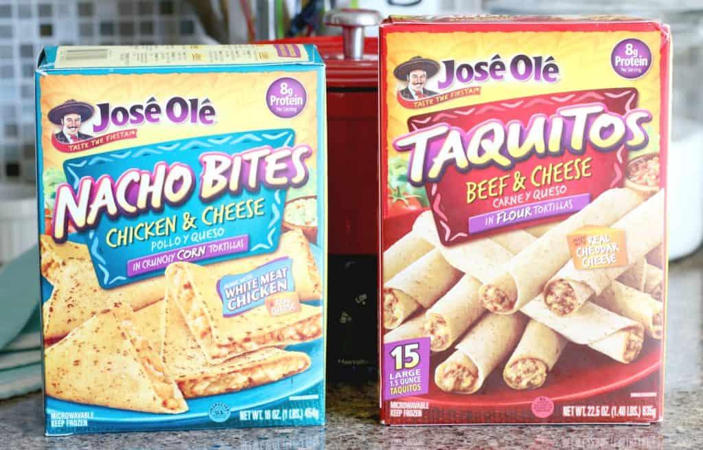 Jose Ole Taquitos and Nacho Bites