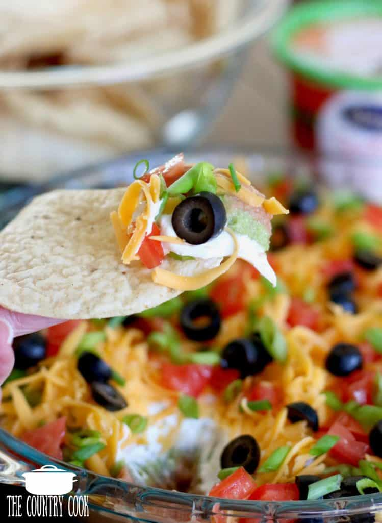 Mexican 7-Layer Dip recipe, easy