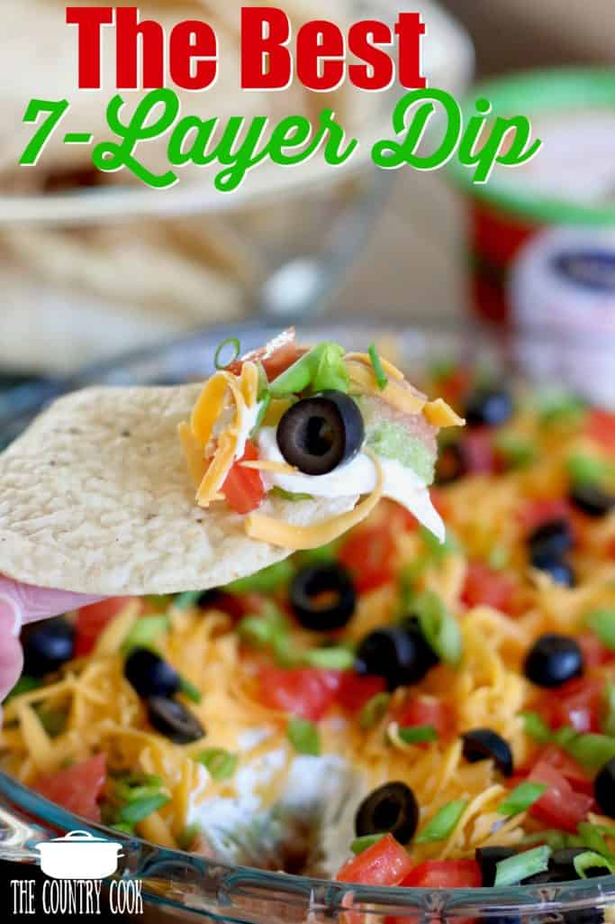 The Best Mexican 7-Layer Dip recipe from The Country Cook