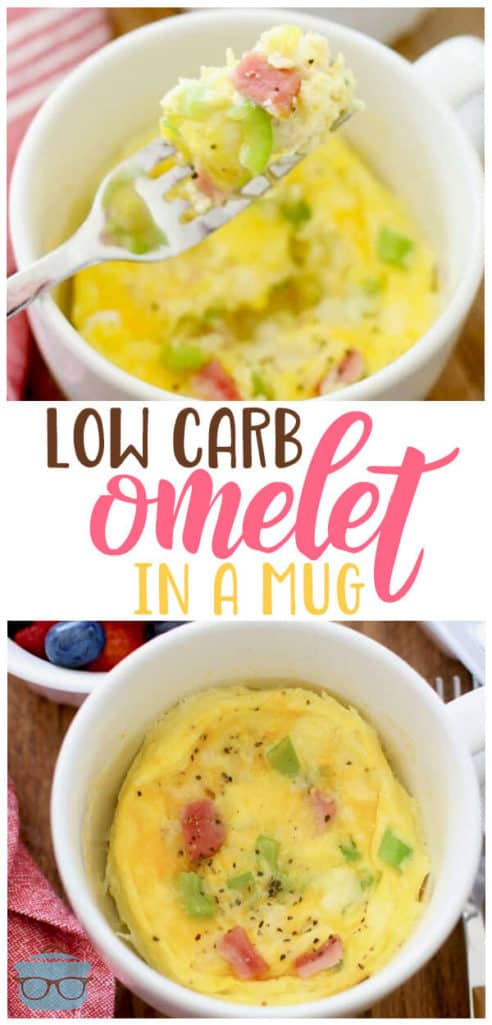 Low Carb Omelet in a Mug recipe from The Country Cook