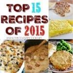 Top 15 Recipe Posts of 2015