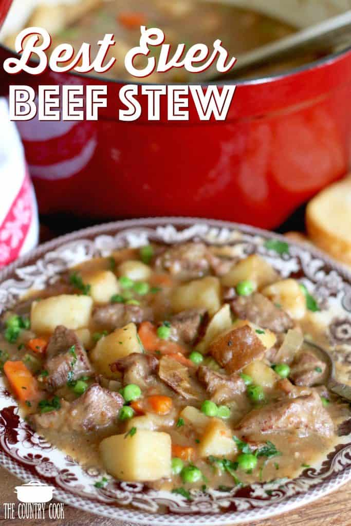 The Best Ever Homemade Beef Stew recipe from The Country Cook