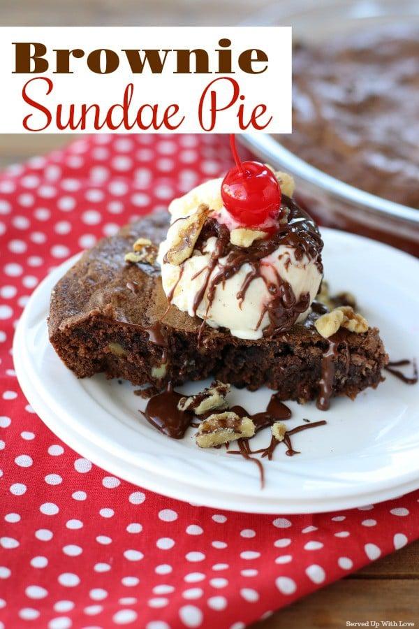 Brownie Sundae Pie recipe