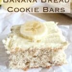 2-Ingredient Banana Bread Bars ~ Weekend Potluck #211
