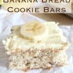 2-Ingredient Banana Bread Bars ~ Weekend Potluck #211