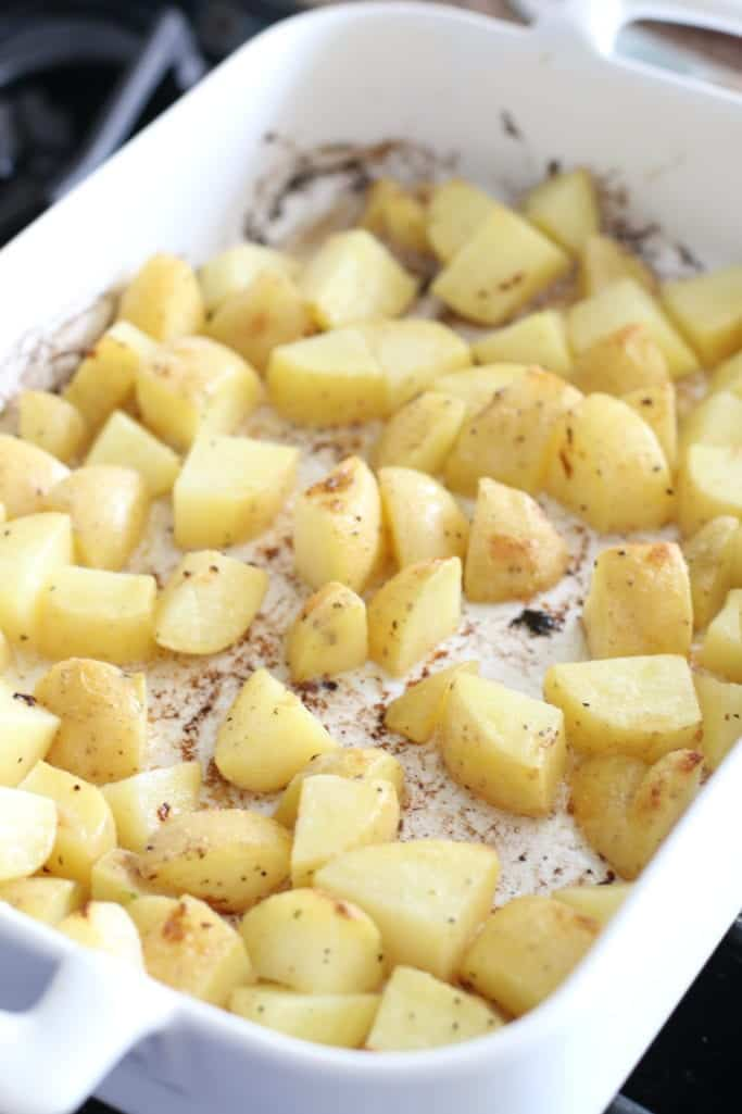 baked, diced potatoes