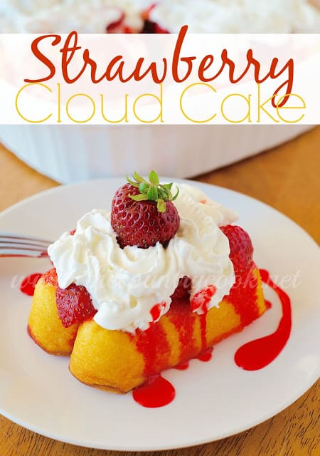 Strawberry Cloud Cake recipe from The Country Cook