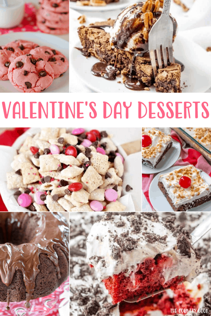 Best Valentine's Day Dessert recipe round up from The Country Cook