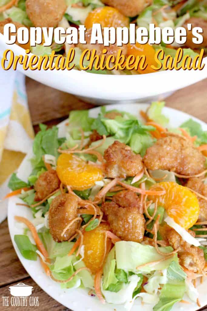 Copycat Applevee's Oriental Chicken Salad recipe from The Country Coo