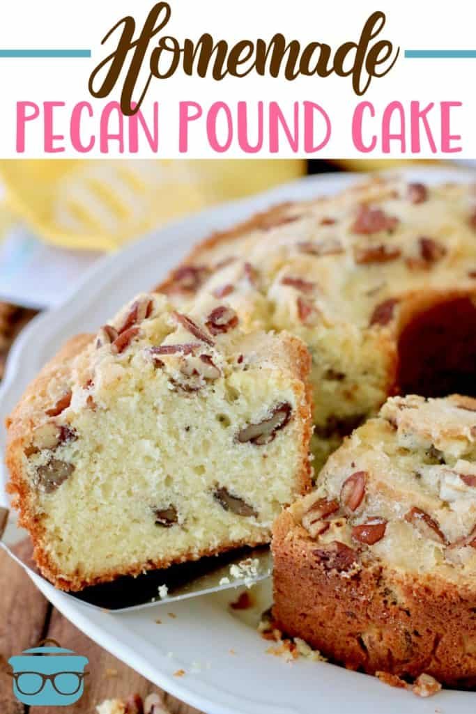 Homemade Southern Pecan Pound Cake recipe from The Country Cook