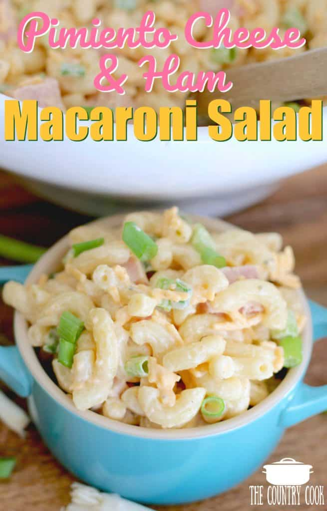 Pimiento Cheese and Ham Macaroni Salad recipe
