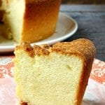 Sour Cream Pound Cake ~ Weekend Potluck #212