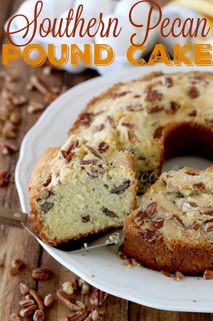 Southern Pecan Pound Cake recipe from The Country Cook