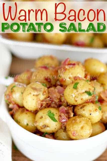 Warm Bacon Potato Salad - The Country Cook