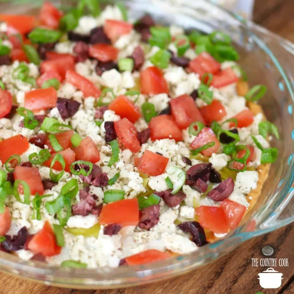 Greek inspired Layered Dip recipe