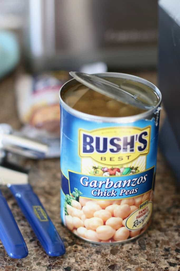 can, garbanzo beans (chick peas)